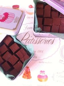 cioccolatini con marron glacé e rhum al profumo di caffè